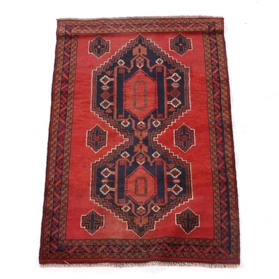 2'11 x 4'8 Hand-Knotted Persian Kelardasht Wool Rug