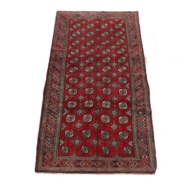 4'4 x 9'5 Hand-Knotted Wool Rug