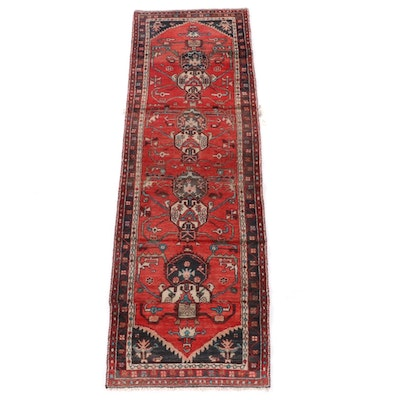 2'7 x 8'8 Hand-Knotted Persian Yalameh Wool Carpet Runner