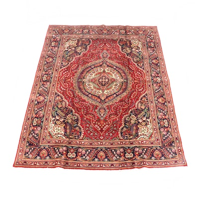 8'2 x 11'6 Hand-Knotted Persian Isfahan Wool Rug