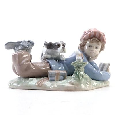 "Lladró ""Study Buddies"" Porcelain Figurine Designed by Regino Torrijos"