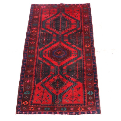 4'3 x 9'6 Hand-Knotted Persian Yalameh Wool Rug