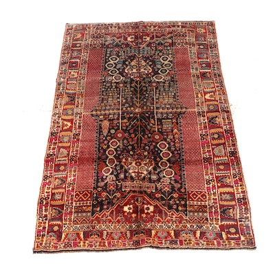 6'2 x 9'10 Hand-Knotted Persian Feraghan Wool Rug