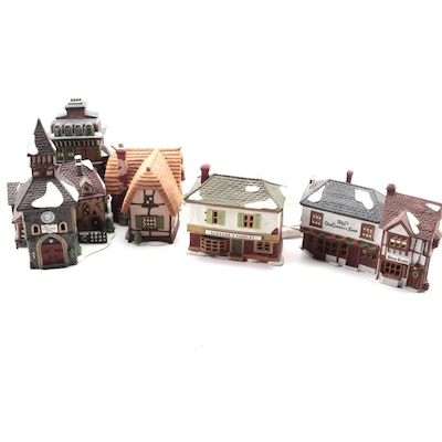 "Department 56 ""Dickens' Village"" Ceramic Houses, Late 20th Century"