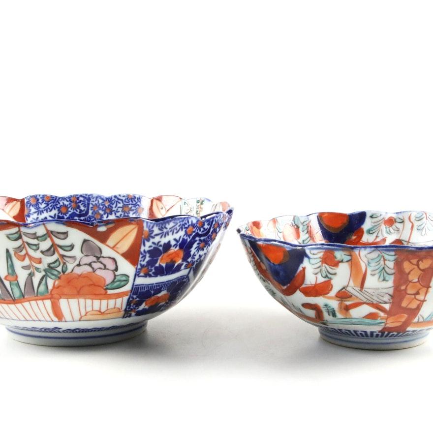 Japanese Imari Porcelain Bowls, Antique