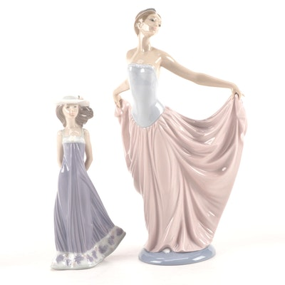 "Lladró ""Susan"" and ""Dancer"" Porcelain Figurines, Late 20th-Early 21st Century"
