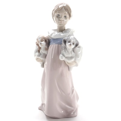 "Lladro ""Arms Full of Love"" Porcelain Figurine, 1996"