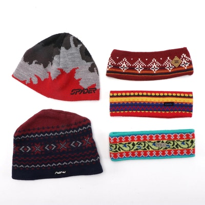 Winter Knit Caps and Headbands Including Spyder, Steffner, Pipolaki and More