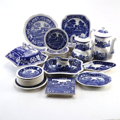 "Spode ""Tower Blue"" Earthenware Dinner and Serveware"