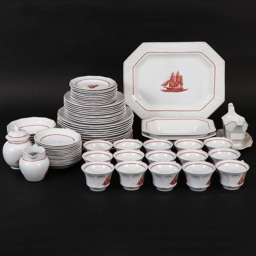 "Wedgwood ""Flying Cloud"" English Porcelain Tableware, 1969–1993"