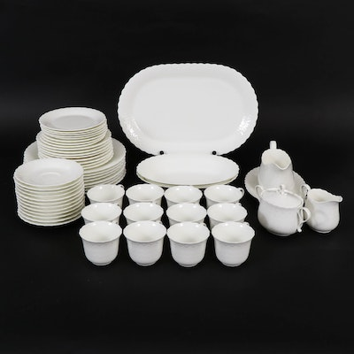 "Mikasa ""White Silk"" Bone China Dinnerware and Serving Pieces"