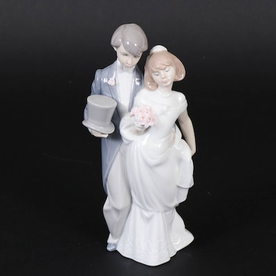 "Lladró ""Wedding Bells"" Porcelain Figurine Designed by Juan Huerta"