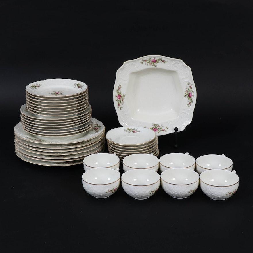 "Rosenthal ""Sanssouci Rose Ivory"" Porcelain Dinner and Serveware"