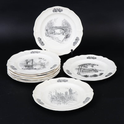Caroline Williams for Wedgwood Cincinnati-Themed Dinner Plates