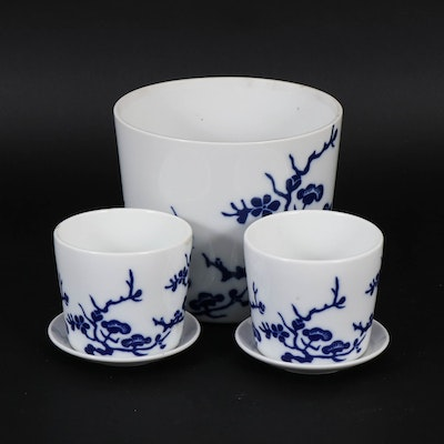 Fitz and Floyd Japanese Porcelain Planters, 1977