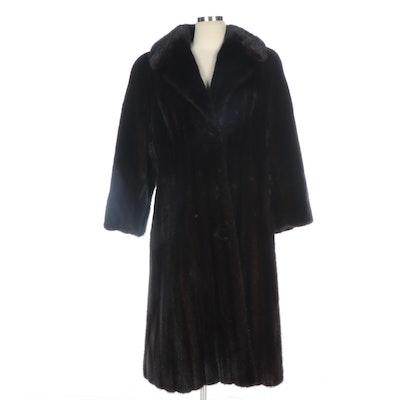 Corded Mink Fur Coat for Joseph Horne Co., Vintage