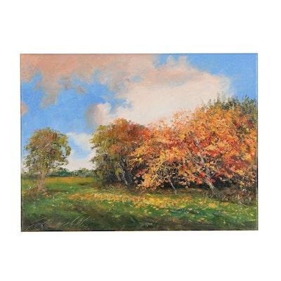 "Garncarek Aleksander Oil Painting ""Autumn"", 2020"