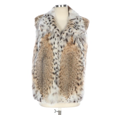 Lynx Fur Pointed Collar Vest