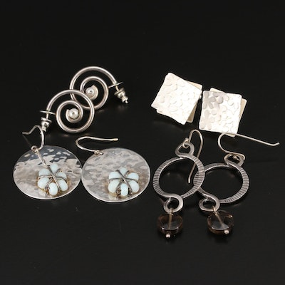 Sterling Silver Earrings Featuring Silpada