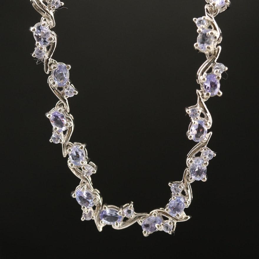 Sterling Silver Tanzanite Necklace