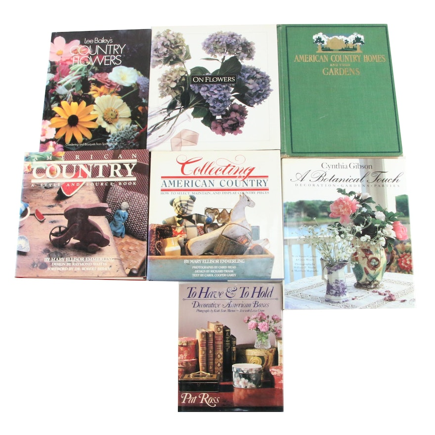"""""""American Country Homes and Their Gardens"""" with Home Decor Books"""