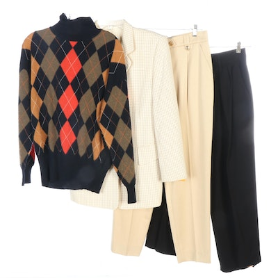 Escada by Margetha Ley Jacket, Argyle Sweater and Pants