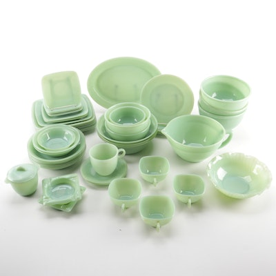 Anchor Hocking's Fire-King Jadeite Glass and Other Kitchen and Dinnerware Pieces