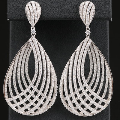 Sterling Cubic Zirconia Teardrop Earrings