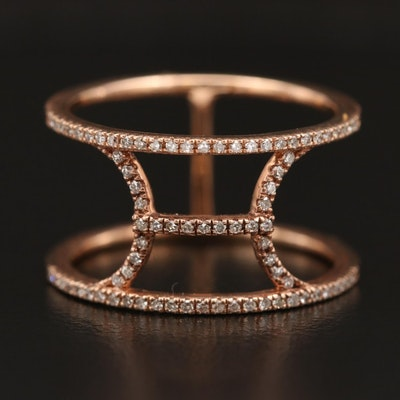 14K Diamond Minimalist Ring