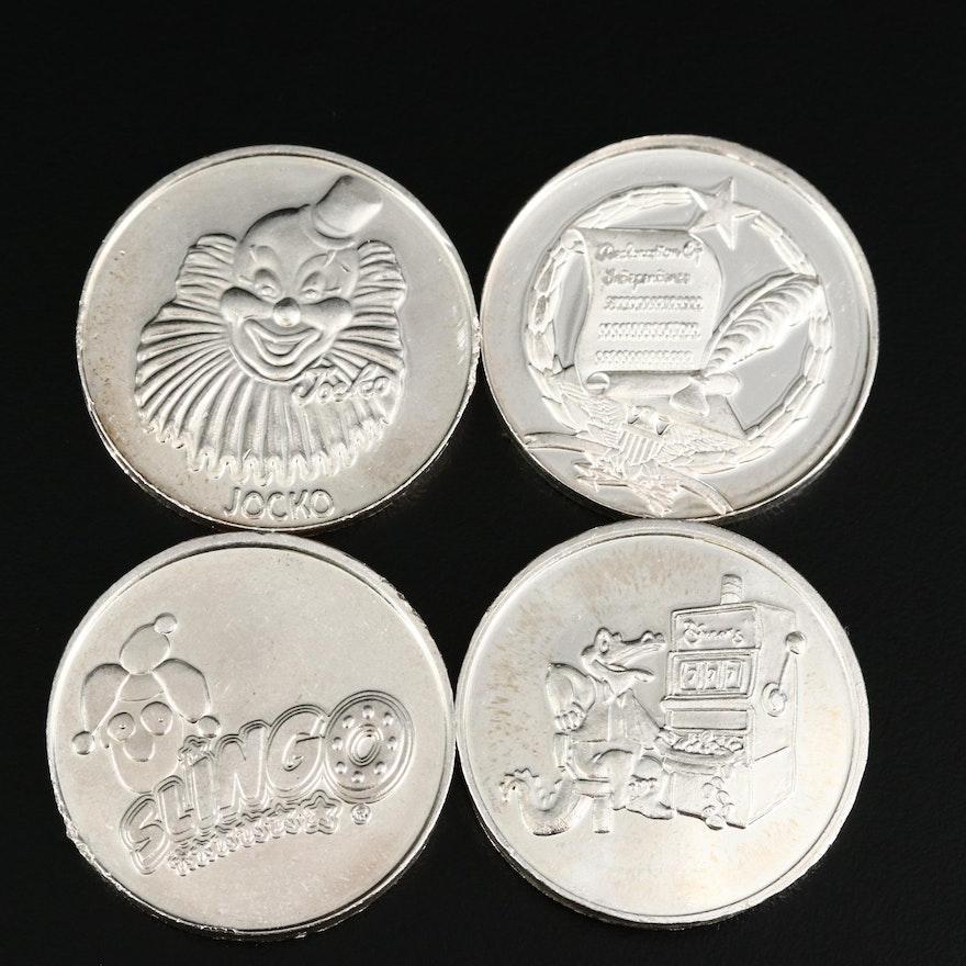 .999 Fine Silver Casino Striker Centers, 1998–2004