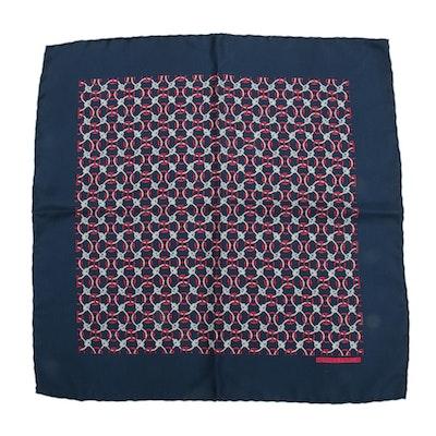 Hermès Paris Patterned Silk Pocket Square