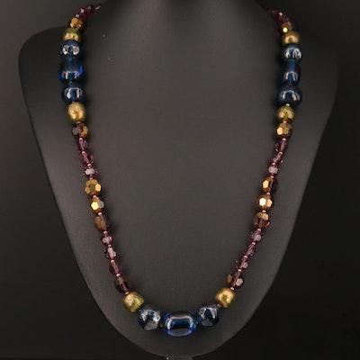 Vintage Judith McCann Designs Glass Beaded Necklace