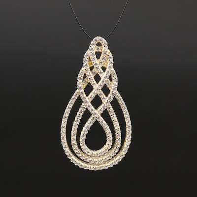 Sterling Cubic Zirconia Braided Pendant
