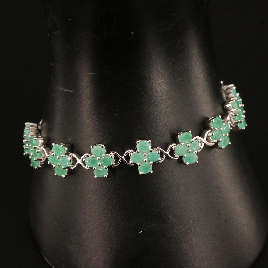 Sterling Silver Beryl Link Bracelet