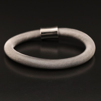 Sterling Silver Twisted Cable Bracelet