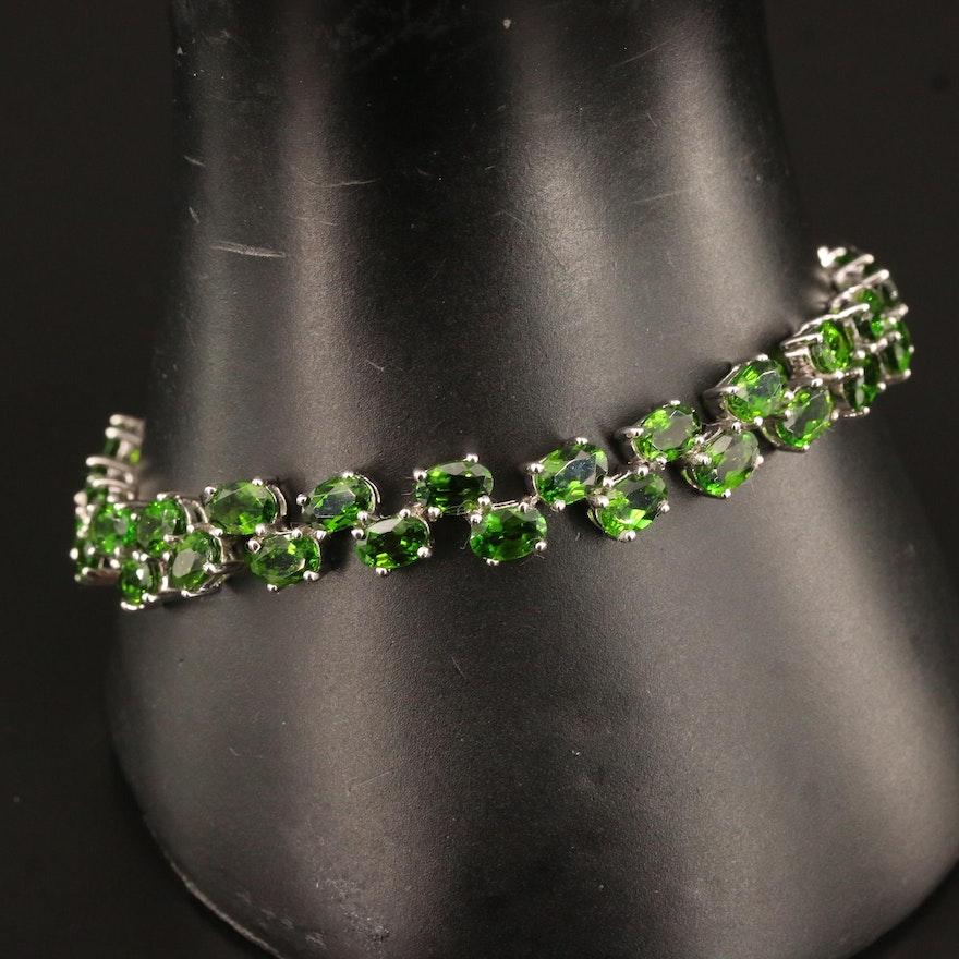 Sterling Diopside Bracelet