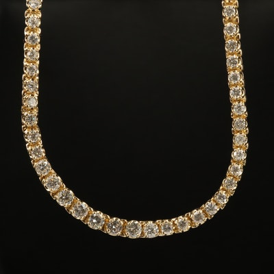 14K 6.50 CTW Diamond Graduated Rivière Necklace