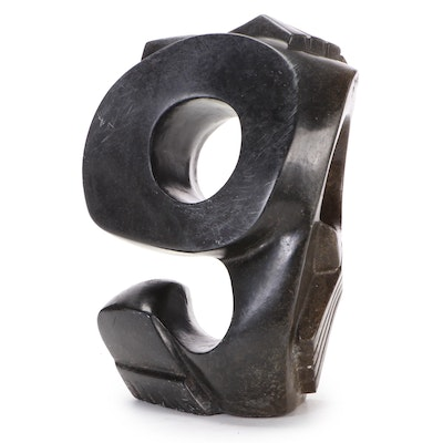 Southern African Abstract Carved Stone Sculpture