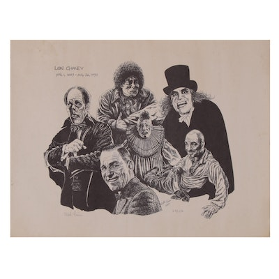 "Martin Timins Commemorative Lithograph ""Lon Chanley"""
