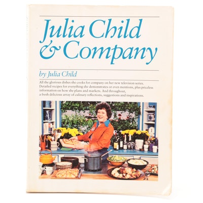 "Signed First Edition ""Julia Child & Company"" by Julia Child with COA, 1978"