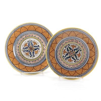 D. Grazia Deruta Italian Majolica Pottery Plates