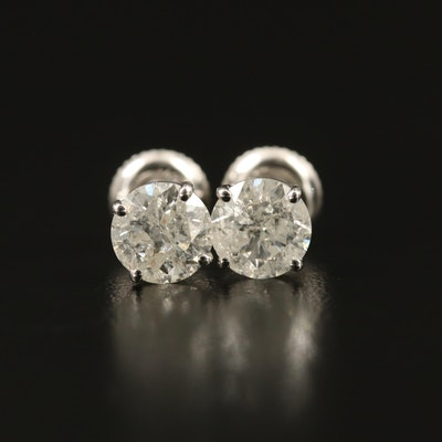 14K 1.82 CTW Diamond Solitaire Earrings