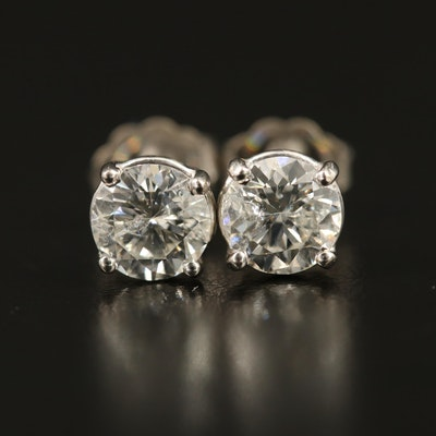 14K 1.24 CTW Diamond Solitaire Earrings