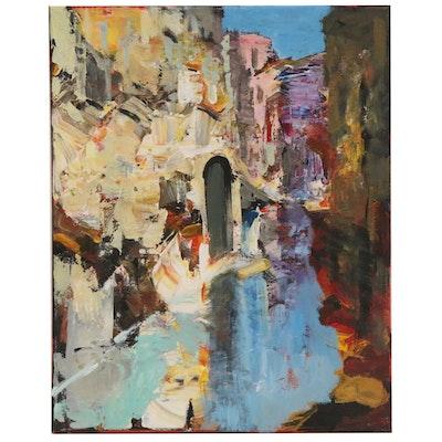 "Leif Janek Acrylic Painting ""Venice 3"""