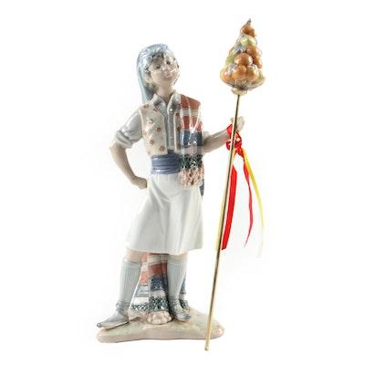 """Lladró """"Valencian Boy"""" Porcelain Figurine Designed by Salvador Debón"""