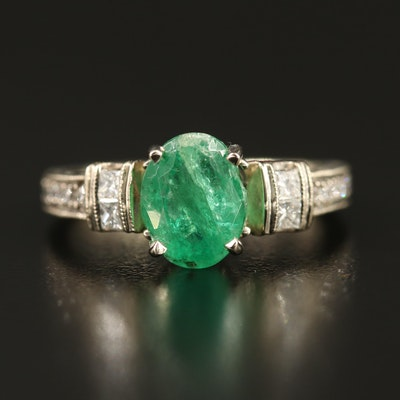 Neil Lane 14K 2.57 CT Emerald and Diamond Ring with GIA Report