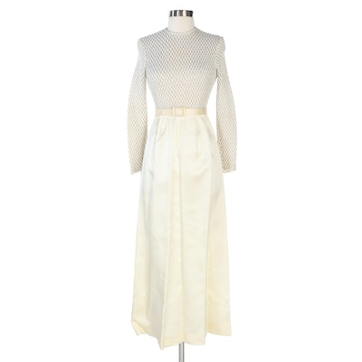 Union Made Knit Maxi Dress with Delpio Belt, Vintage