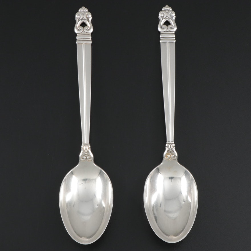 """International """"Royal Danish"""" Sterling Silver Tablespoons, Mid/Late 20th Century"""