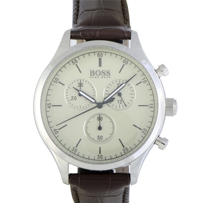 Hugo Boss Companion Chronograph Wristwatch Beige