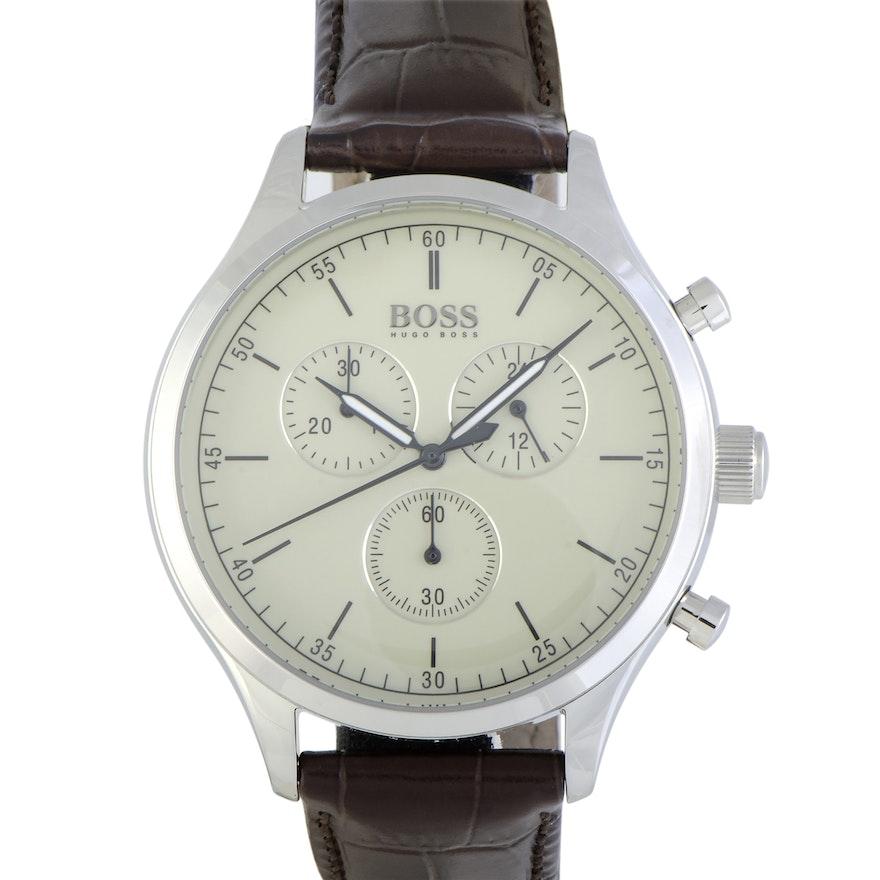 Hugo Boss Companion Chronograph Wristwatch Beige